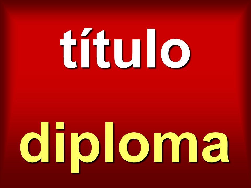 título diploma