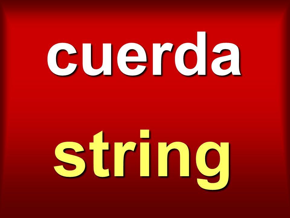 cuerda string