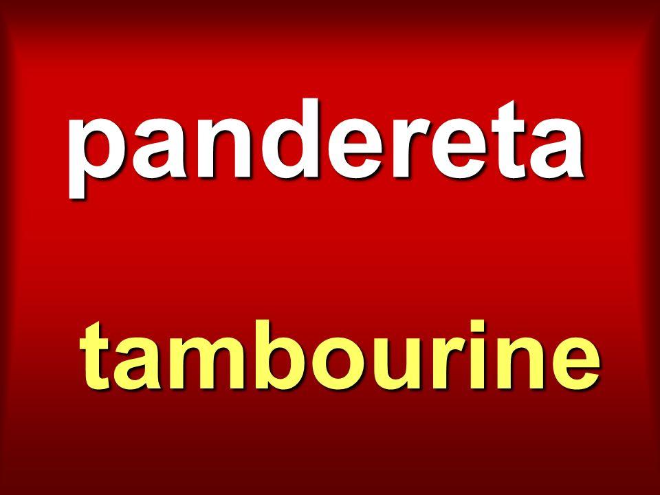 pandereta tambourine