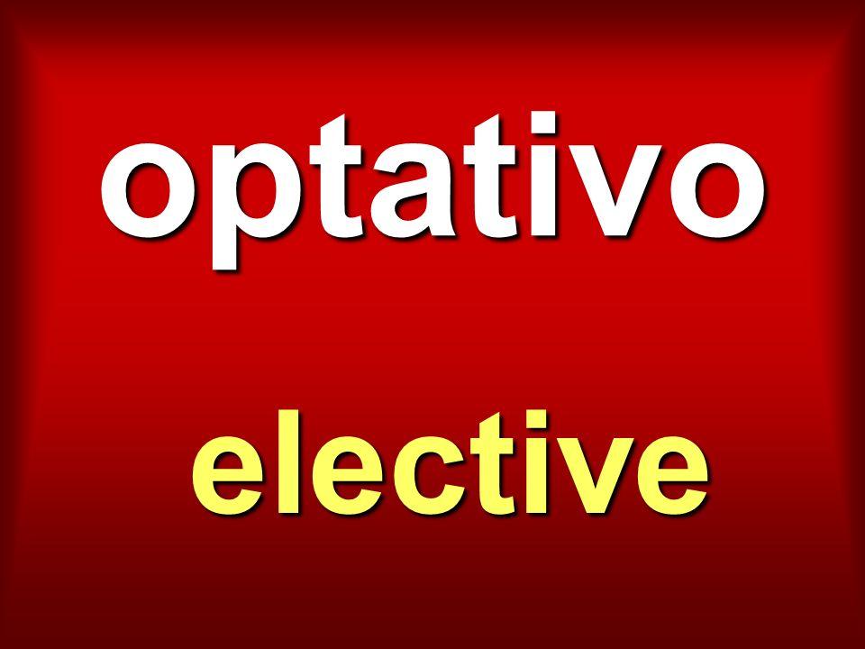 optativo elective