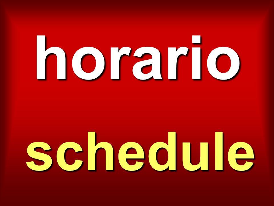 horario schedule
