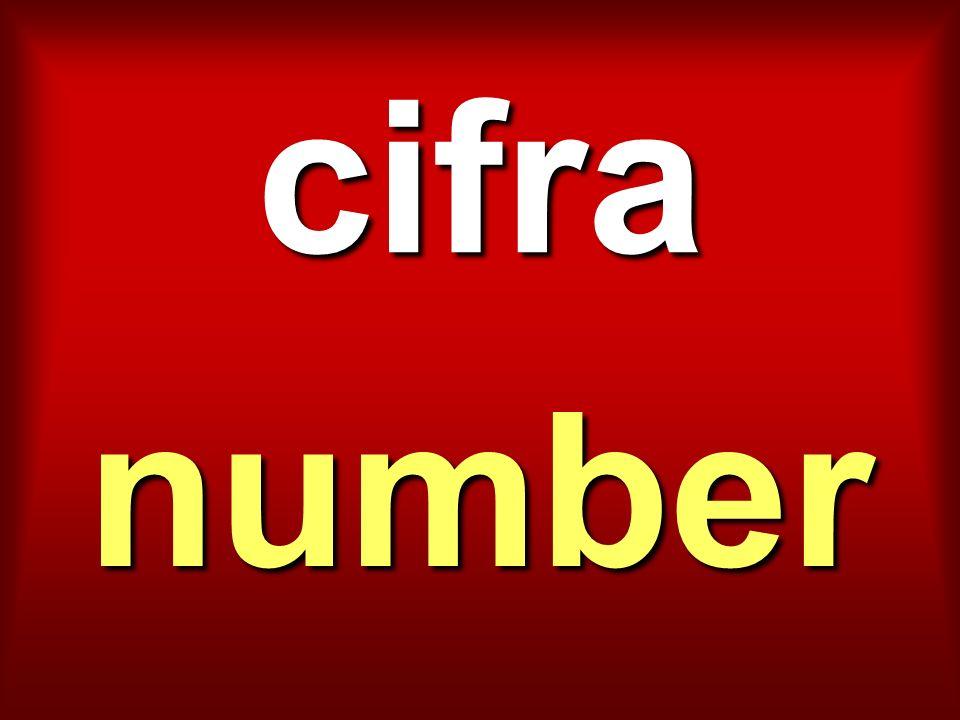 cifra number
