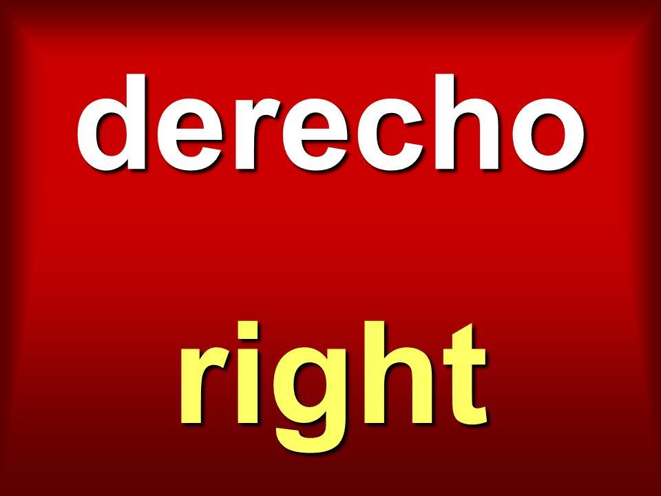 derecho right