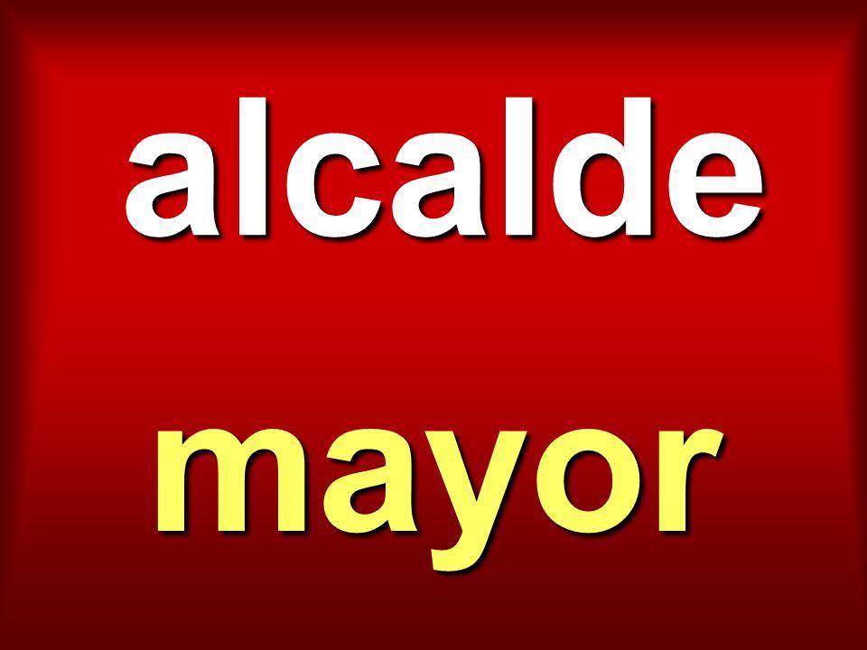 alcalde mayor