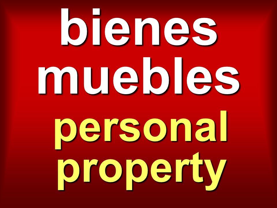 bienes muebles personal property