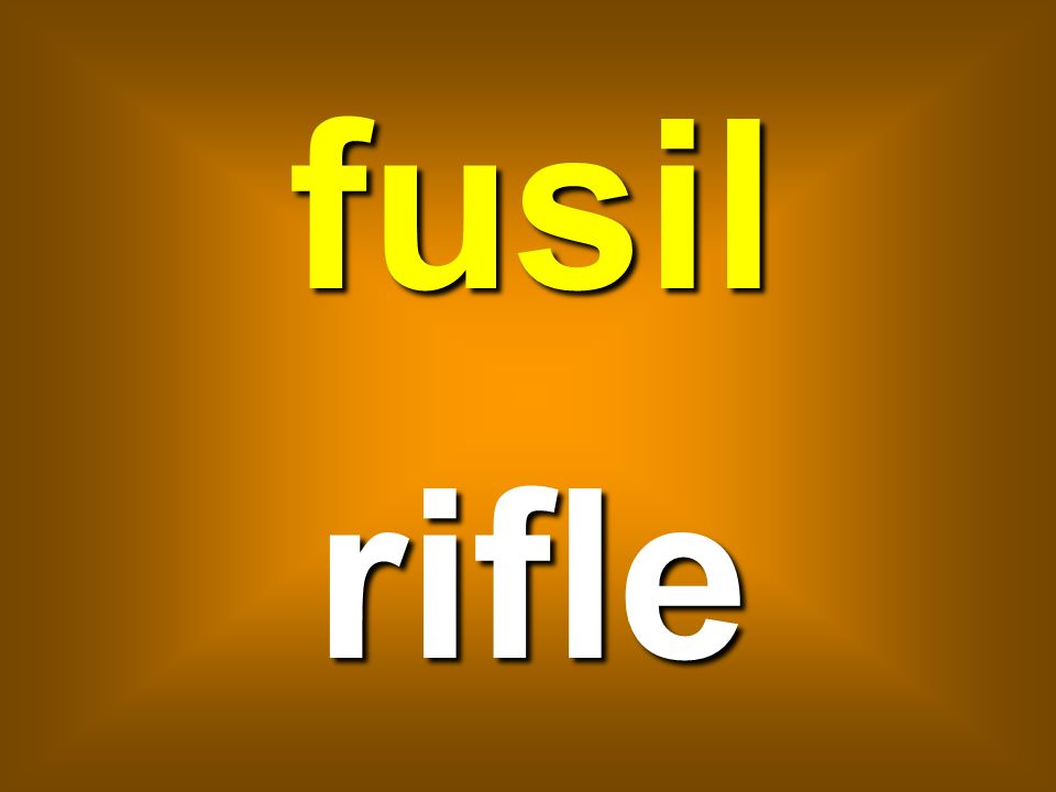 fusil rifle