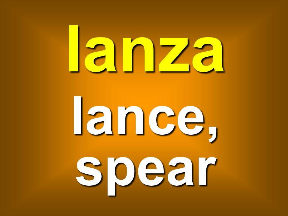 lanza lance, spear