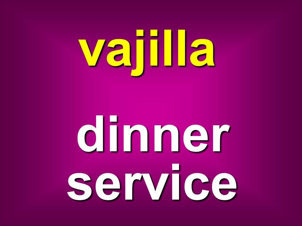 vajilla dinner service
