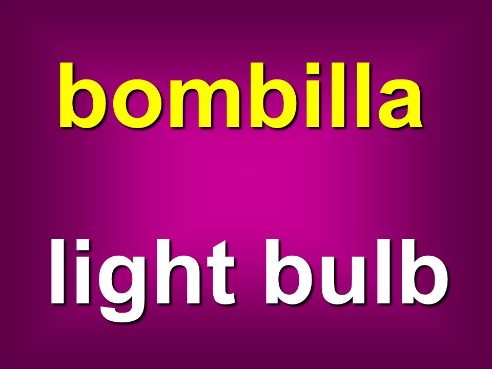 bombilla light bulb