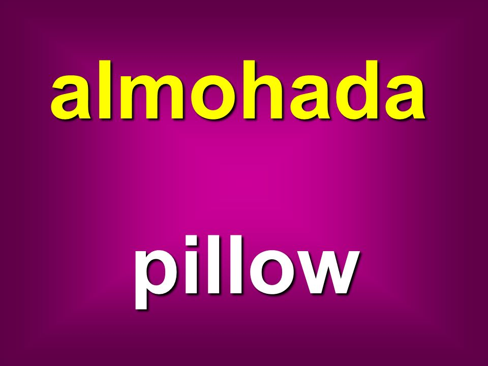 almohada pillow