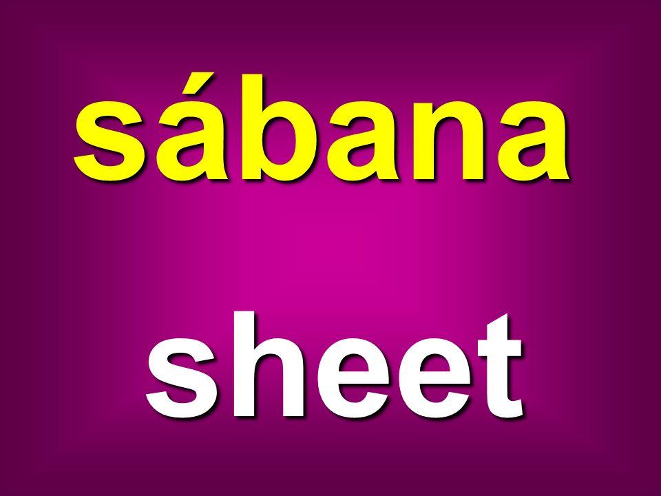 sábana sheet