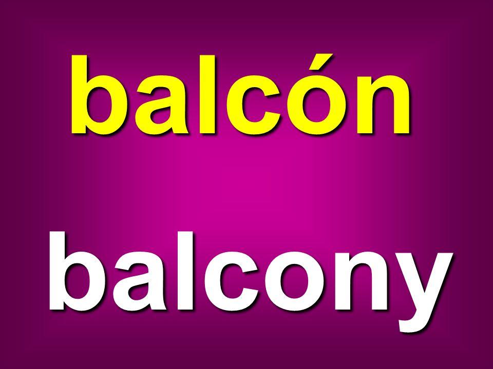 balcón balcony