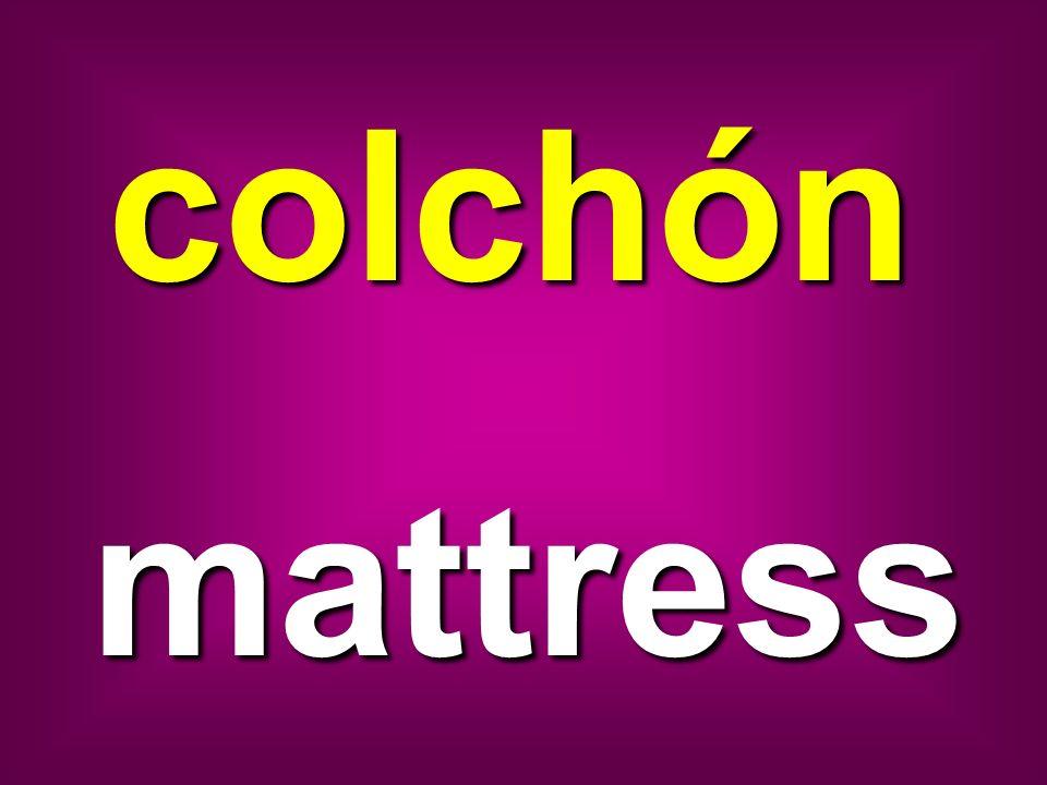 colchón mattress