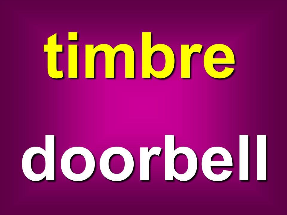 timbre doorbell
