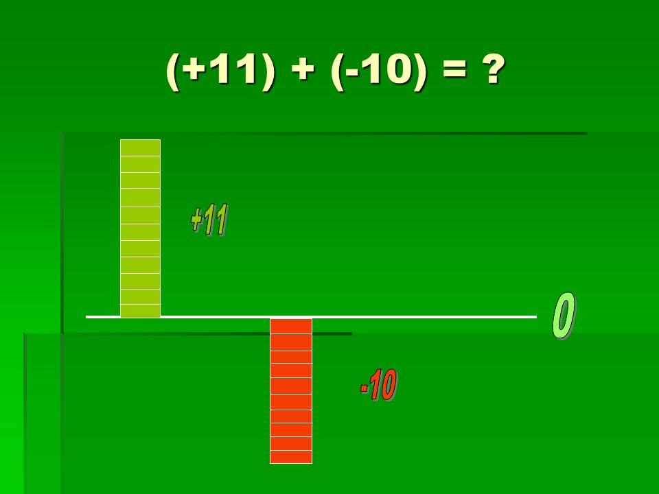 (+11) + (-10) = ?