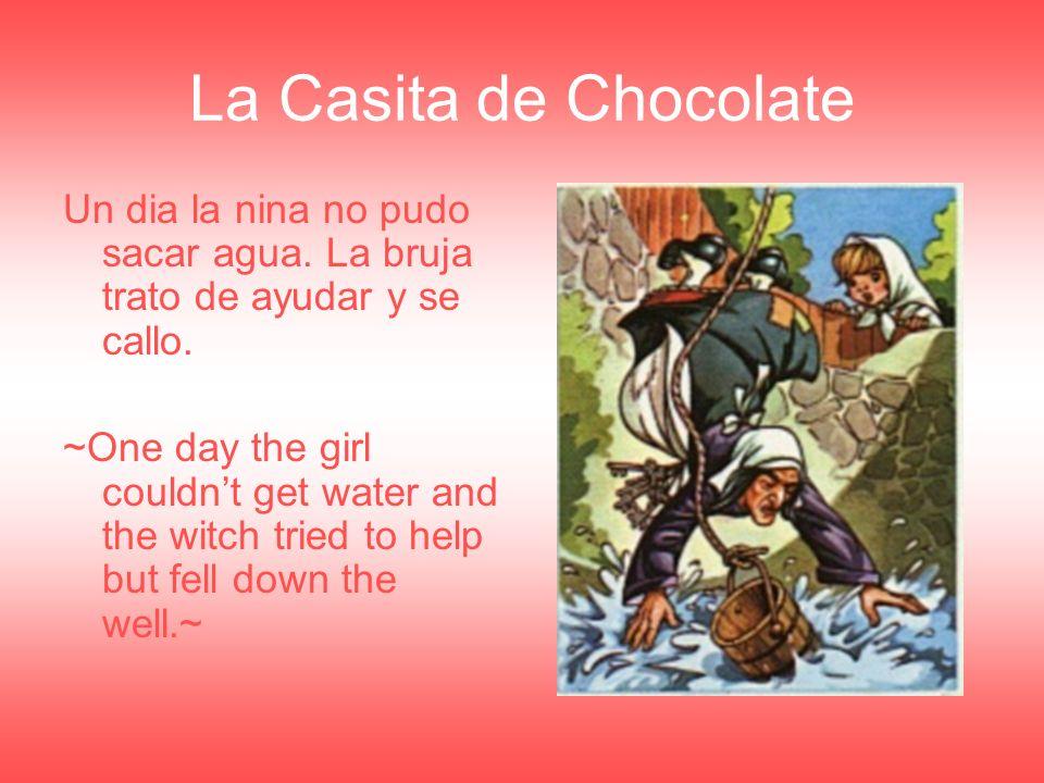 La Casita de Chocolate La hermana corrio y salvo a sus hermano, y corrieron a casa.