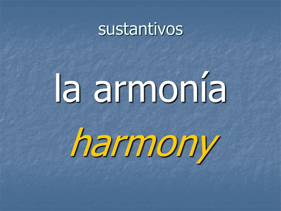 sustantivos harmony