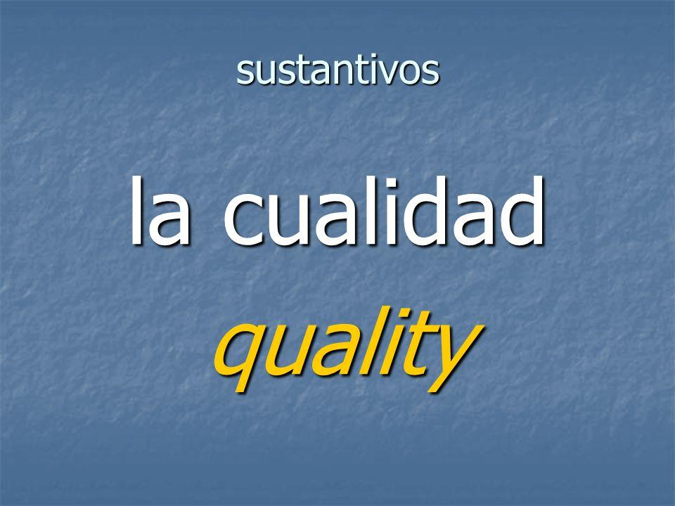 sustantivos quality