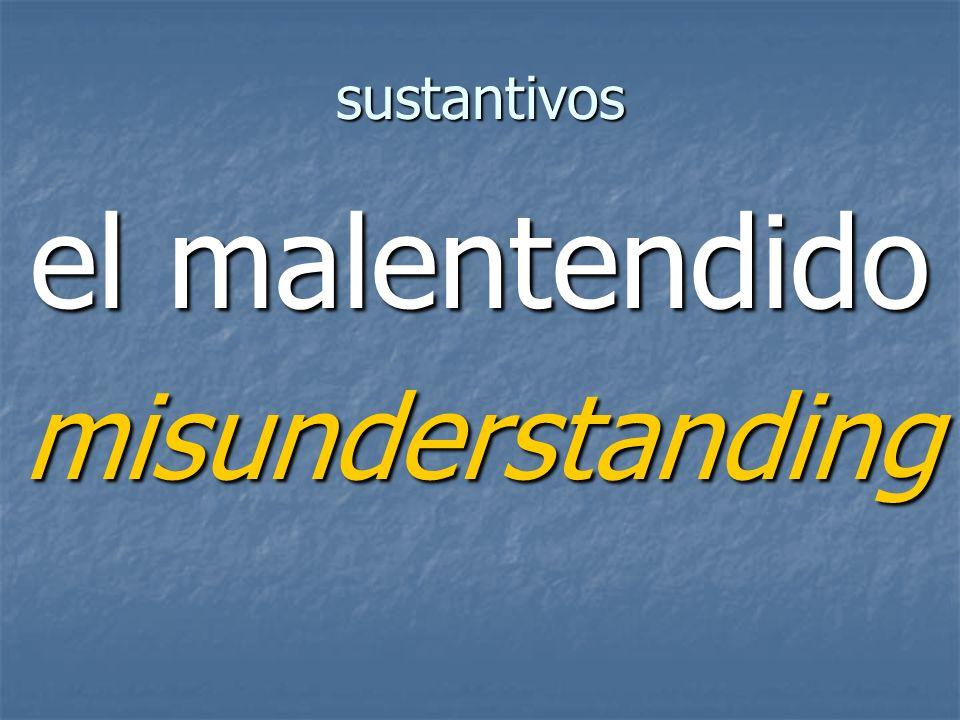 sustantivos misunderstanding