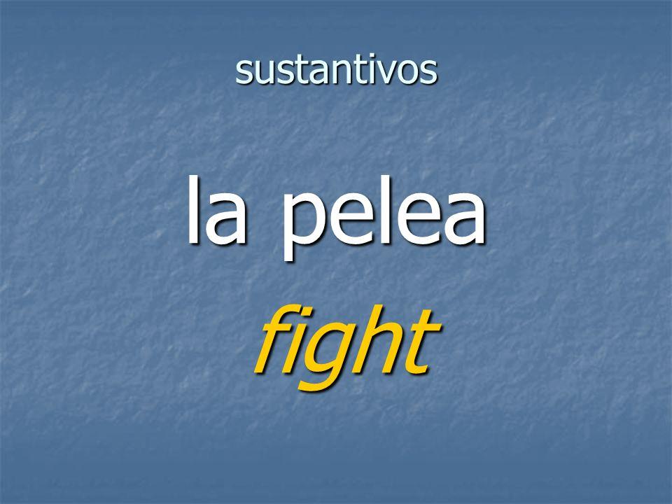sustantivos fight