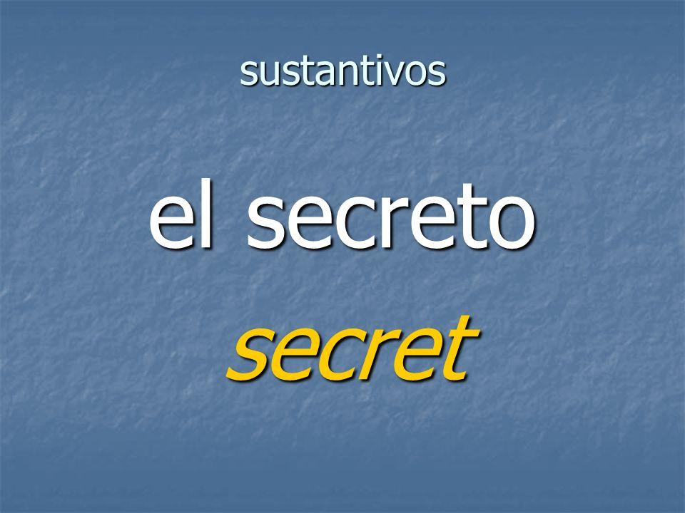 sustantivos secret