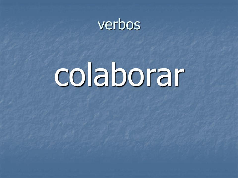 verbos colaborar
