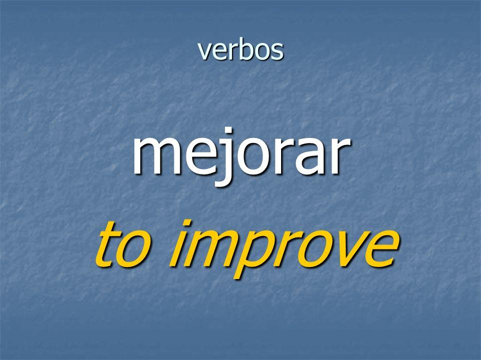 verbos mejorar to improve
