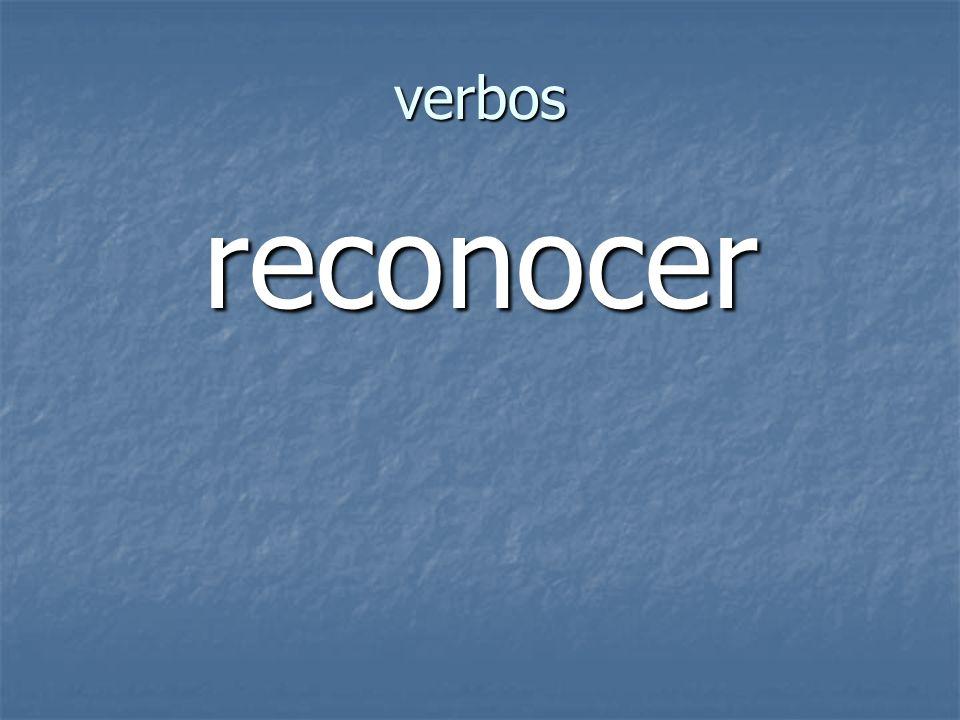 verbos reconocer
