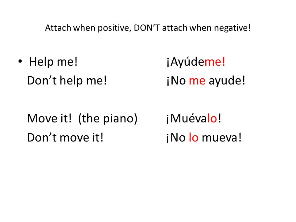 Attach when positive, DONT attach when negative. Help me.