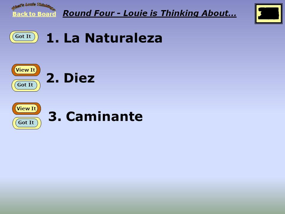 Back to Board Empieza Round Four Louie esta pensando sobre… Proverbios y cantares, XXIX