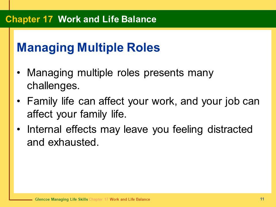 Glencoe Managing Life Skills Chapter 17 Work and Life Balance Chapter 17 Work and Life Balance 11 Managing Multiple Roles Managing multiple roles pres