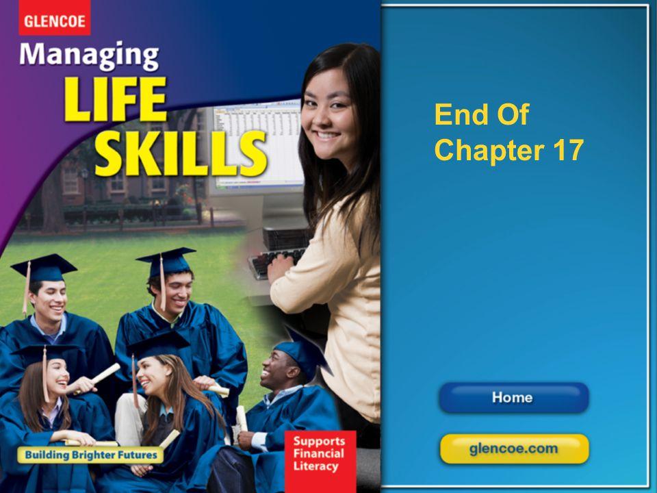 Glencoe Managing Life Skills Chapter 17 Work and Life Balance Chapter 17 Work and Life Balance 37 End of Chapter 1 End Of Chapter 17