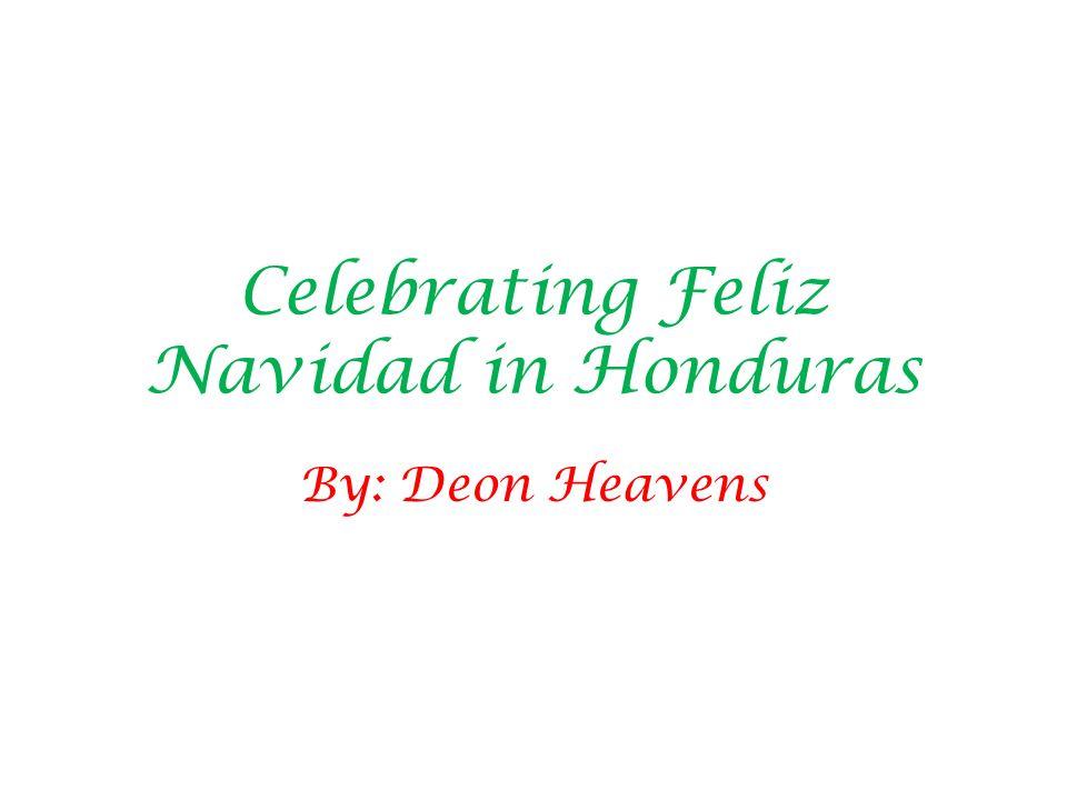 Celebrating Feliz Navidad in Honduras By: Deon Heavens