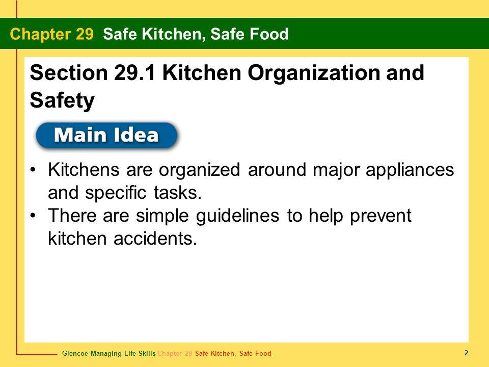 Glencoe Managing Life Skills Chapter 29 Safe Kitchen, Safe Food Chapter 29 Safe Kitchen, Safe Food 3 Content Vocabulary Academic Vocabulary major appliance work center work triangle range bare