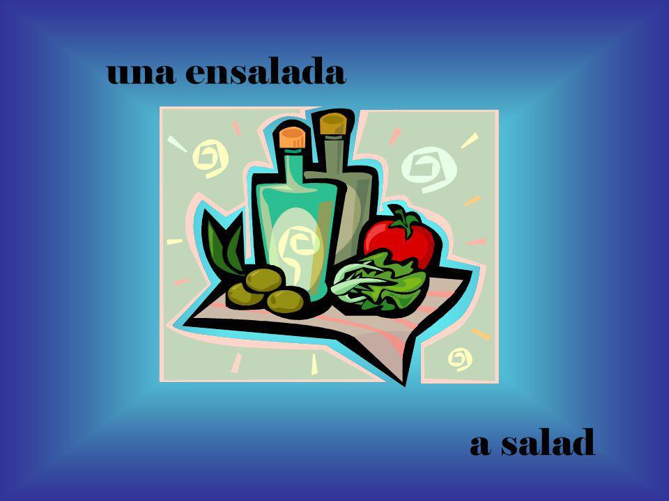 una ensalada a salad