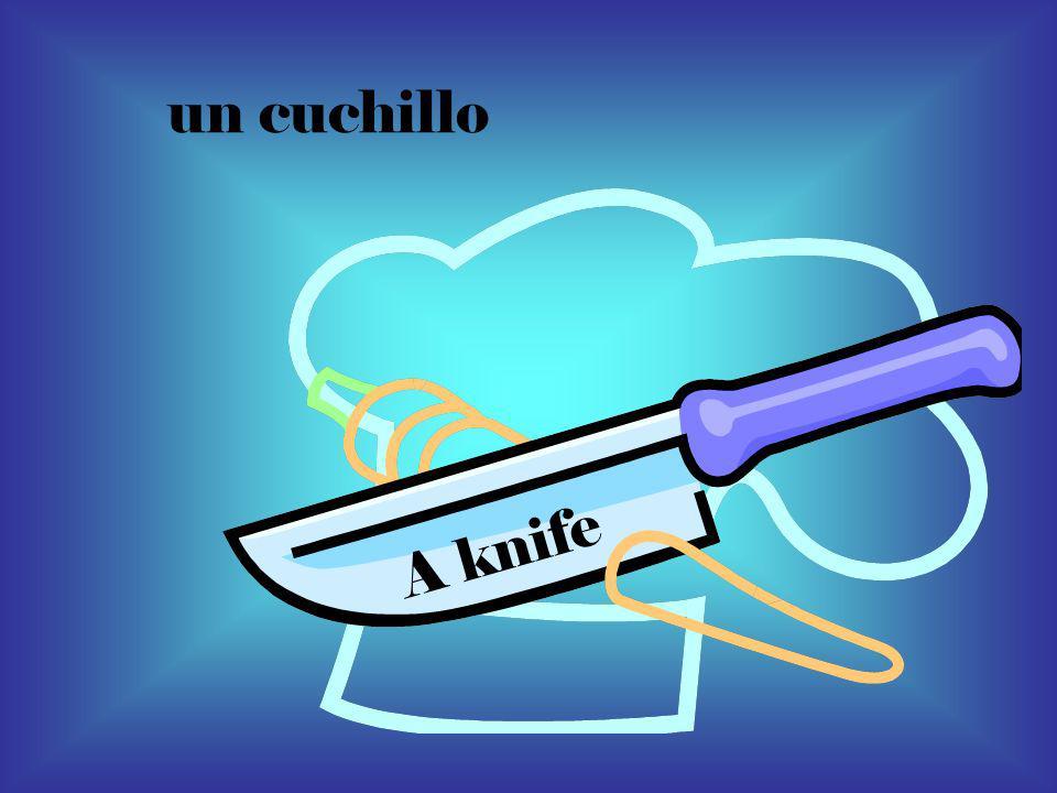 un cuchillo A knife