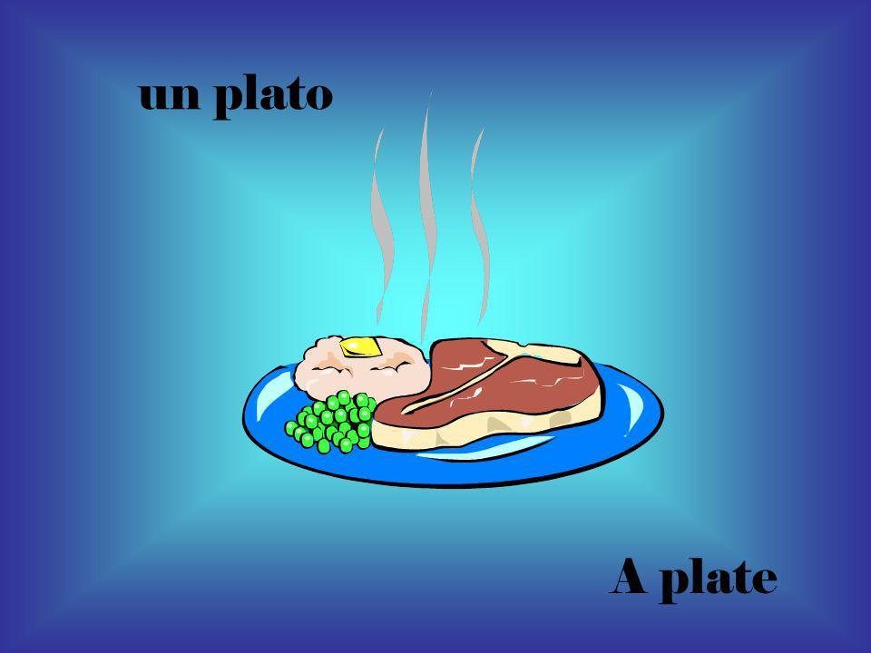 un plato A plate
