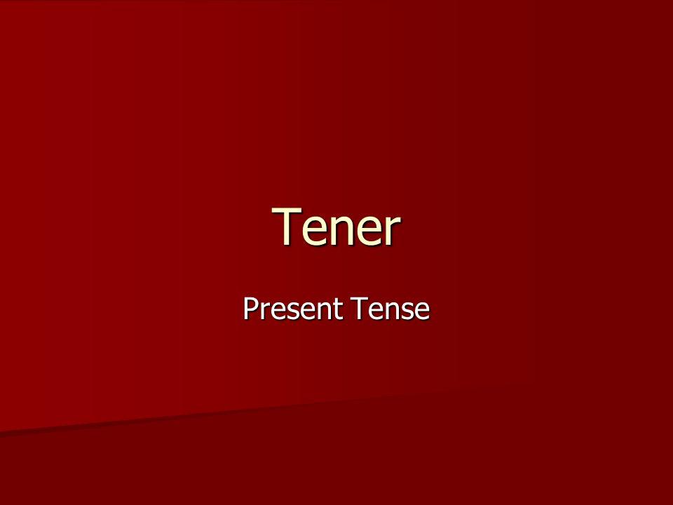 Tener Present Tense