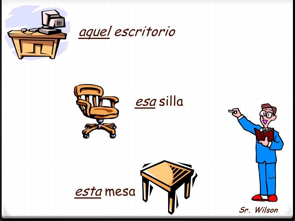The adverbs aquí, allí, and allá indicate relative position. Aquí - here Allí – there Allá - there (over there) Los Adjetivos Demostrativos