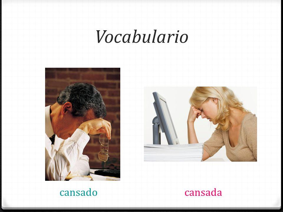 Vocabulario apestoso(a)el hombre la mujer