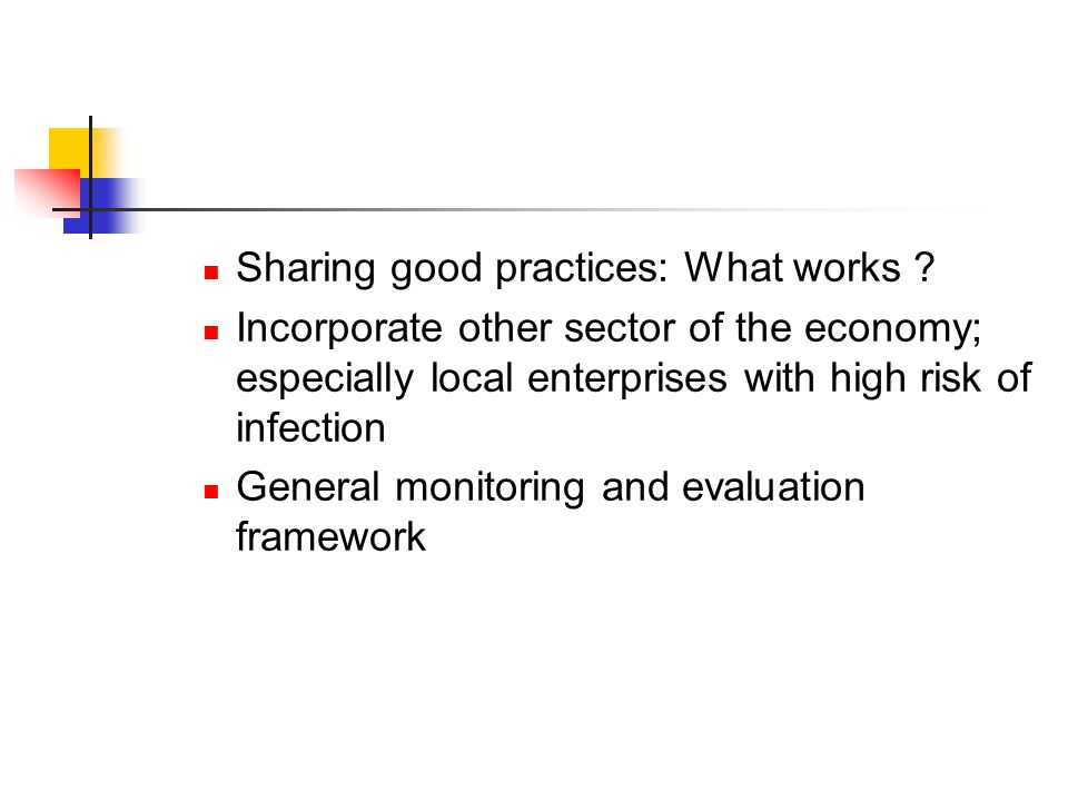 Sharing good practices: What works .