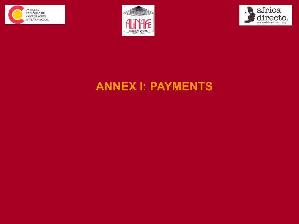 ANNEX I: PAYMENTS