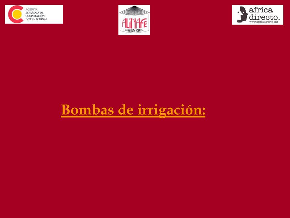 Bombas de irrigación: