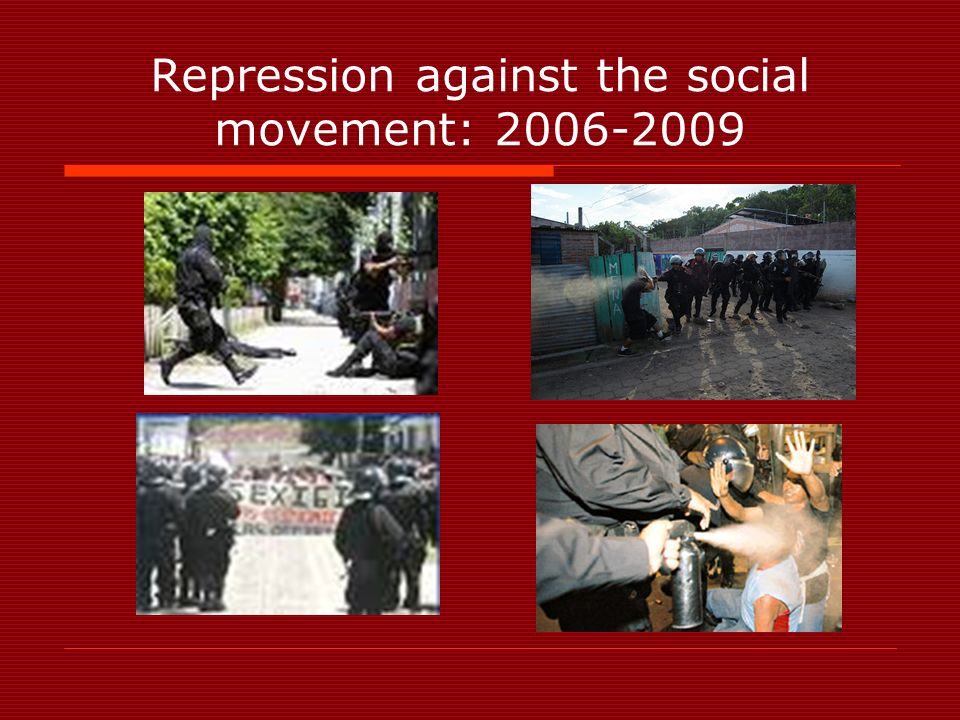 Repression against the social movement: