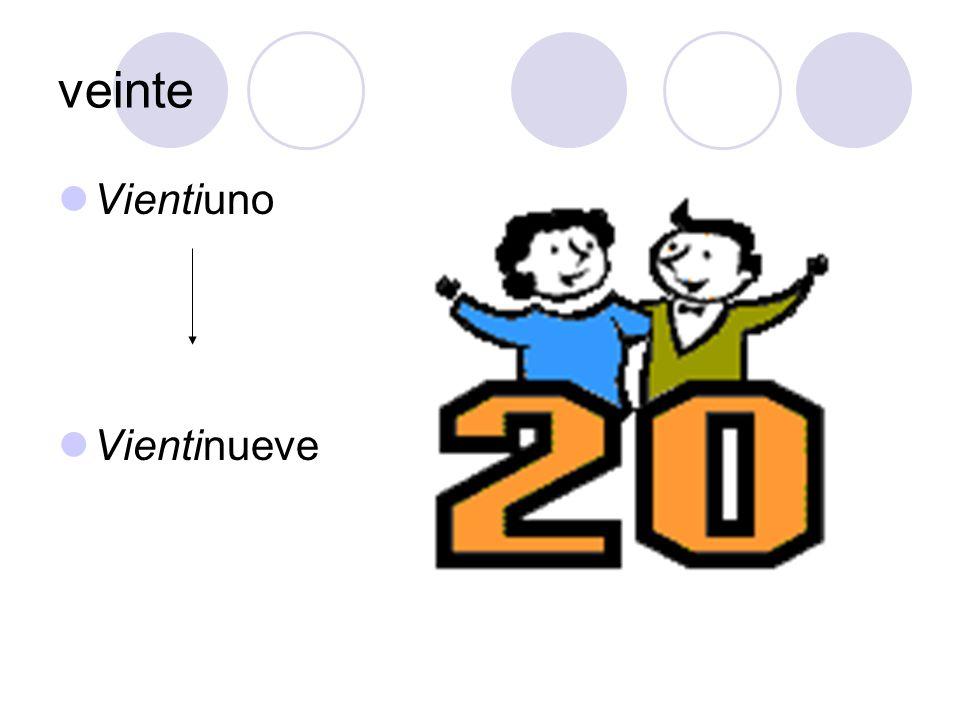 veinte Vientiuno Vientinueve