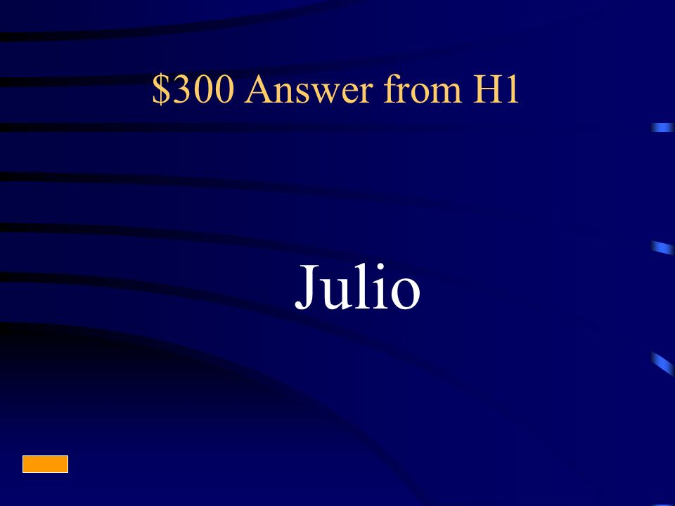 $300 Answer from H1 Julio