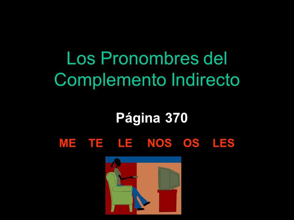 Los Pronombres del Complemento Indirecto Página 370 METELENOS OS LES