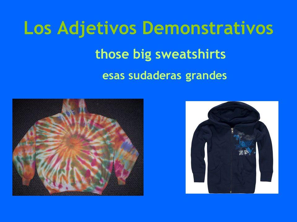 Los Adjetivos Demonstrativos those big sweatshirts esas sudaderas grandes