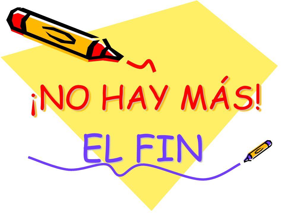 ¡ NO HAY MÁS! EL FIN