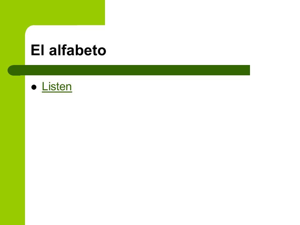 El alfabeto Listen